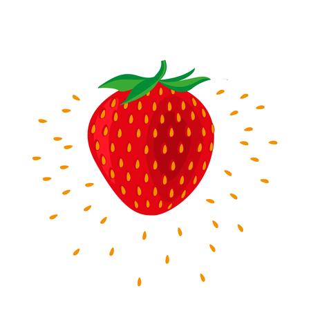 Strawberry fruit icon
