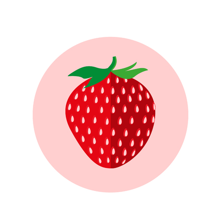 ripe: Strawberry fruit icon