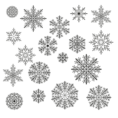 new years: Vector Christmas snowflake Illustration