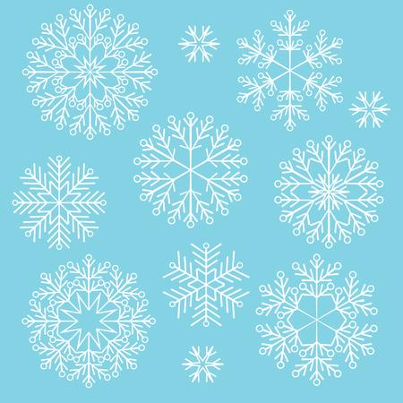 cold: Vector Christmas snowflake Illustration