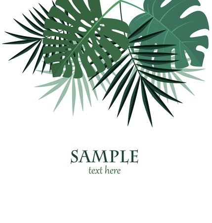 Vector illustration of palm leaf decoration.