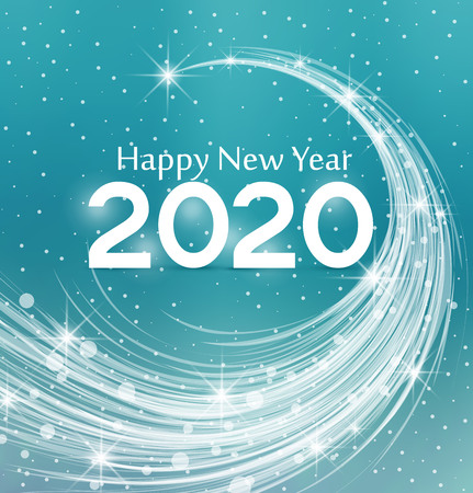 Happy New Year 2020, illustration Christmas background