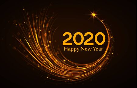 kerst achtergrond 2020 Happy New Year 2020, Vector Illustration Christmas Background