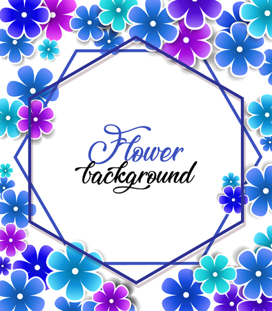 Vector illustration of flowers on a white background. Colorful floral background Illustration