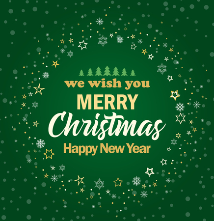 vector vector illustration merry christmas card happy new year background