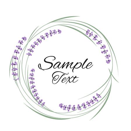 Vector illustration natural frame with purple lavender