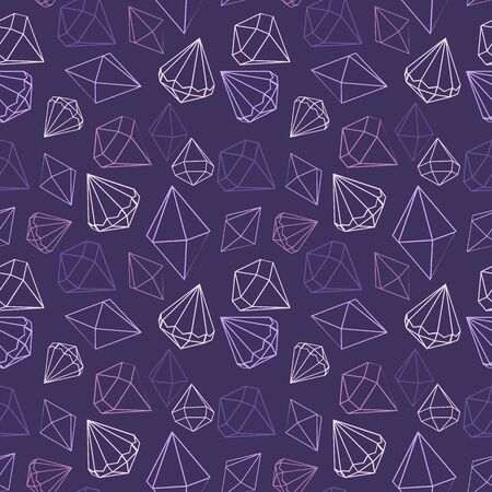 Vector illustration seamless pattern jewels, diamond. Decorative background