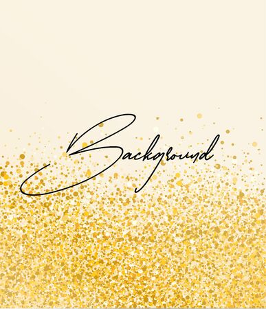 Vector illustration of abstract gold romantic background. Background with dots.