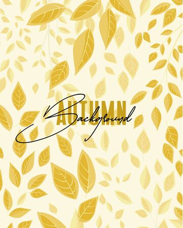 Vector illustration of decoration leaves. Autumn nature background. Greeting cards