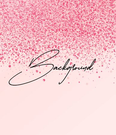 Vector illustration of abstract pink romantic background. Background with dots.