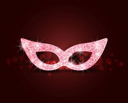 Vector illustration carnival mask. Conceptual design, poster, greeting card, party invitation, banner Reklamní fotografie - 135491212