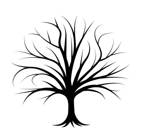 Vector illustration of tree silhouette. Natural simple concept