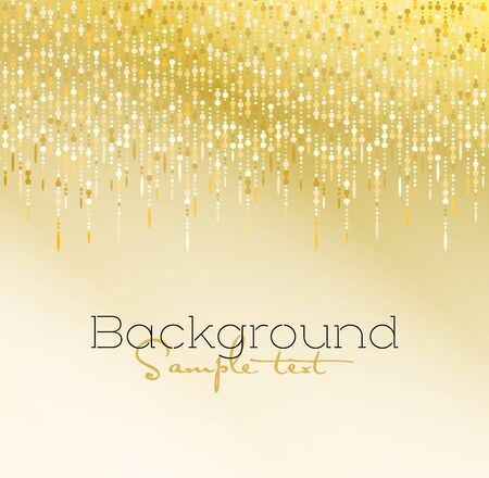 Vector illustration gold glitter light texture abstract background, holiday event festive concept
