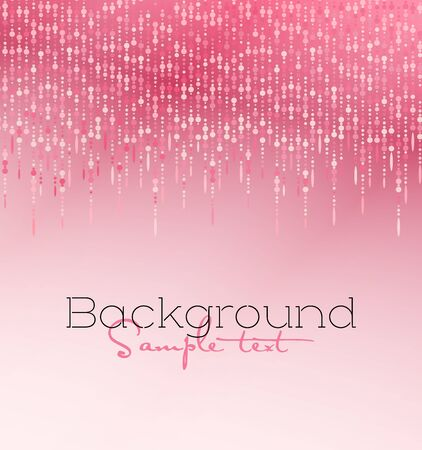 Vector illustration pink glitter light texture abstract background, holiday event festive concept