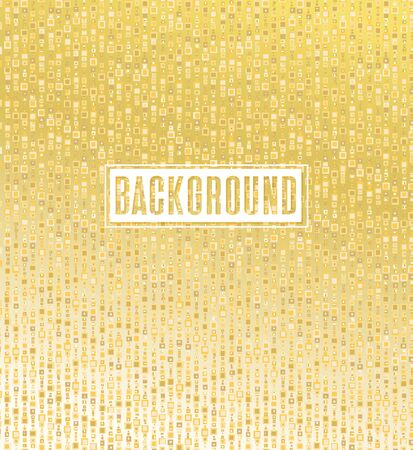 Vector illustration gold light texture abstract background, holiday event festive concept
