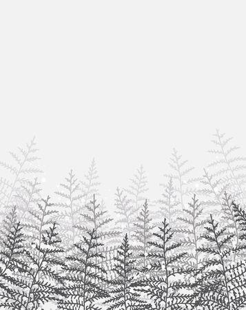 Vector illustration of pine trees. Ilustração