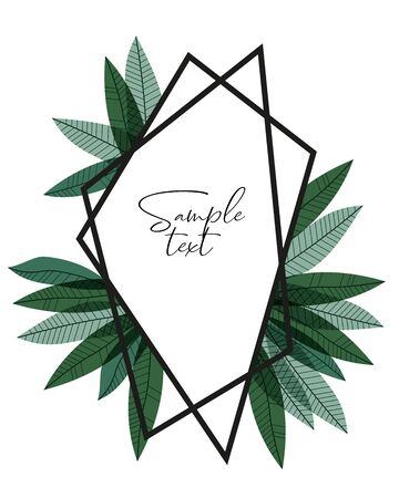 Vector illustration of green leaves. Natural background with place for text Ilustração