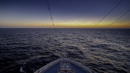 Sunset on a cruise ship.