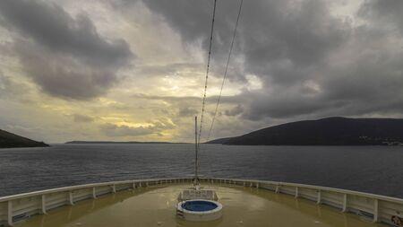 When sailing on a cruise ship. Archivio Fotografico
