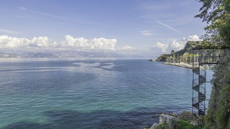 View of the old fort in Corfu, Greece. Banque d'images