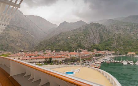 Port of Kotor, Montenegro. From the deck of a cruise ship docked at the port. Reklamní fotografie