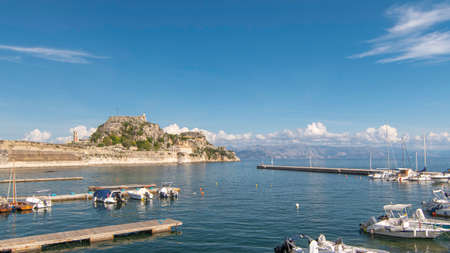 View of the old fort in Corfu, Greece. Éditoriale