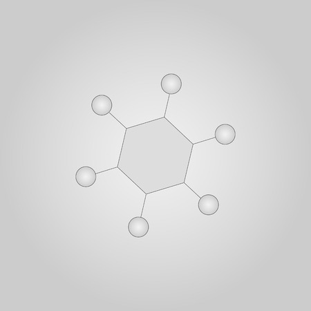Chemical bonding Web Icon. Flat Line Filled Gray Icon Vector
