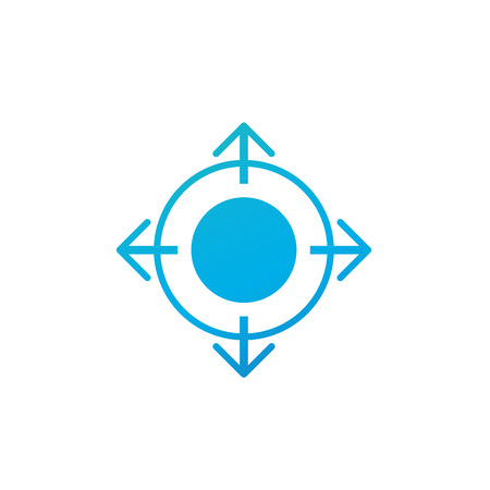 Quatre flèches. Icône de vecteur plat. Symbole noir simple sur fond blanc Vecteurs