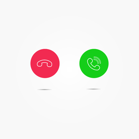 Phone call icons Vecteurs