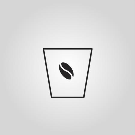 Disposable coffee cup icon Фото со стока - 119614726