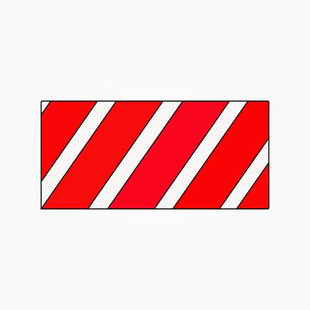 la ligne rouge continue l'enveloppe formant un vecteur carré