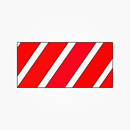 red line continues envelope forming a square vector Illustration