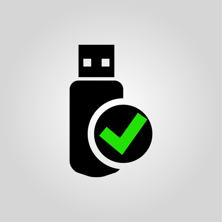 USB flash drive Icon Vector.