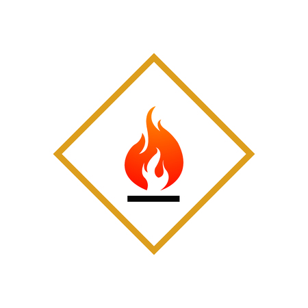GHS hazard pictogram - FLAMMABLE , hazard warning sign flammable , isolated vector illustration 向量圖像