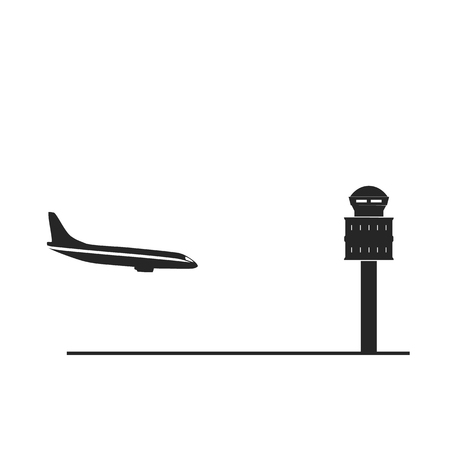Landing creative icon. Simple element illustration. Landing concept symbol design from airport collection. Can be used for web, mobile and print. web design, apps, software, print. 向量圖像