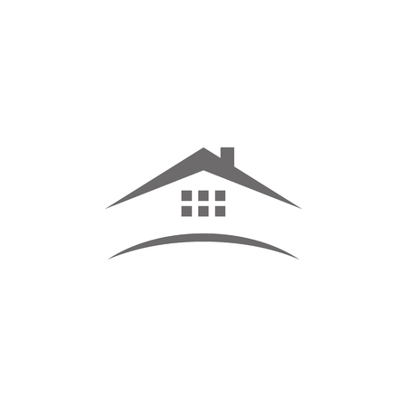 Abstract vector logo combines house  イラスト・ベクター素材