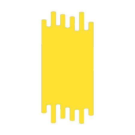 Hand drawn yellow highlighter stripes. Marker strokes background template. Optimized for one click color changes. Transparent colors EPS10 vector illustration.
