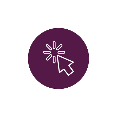 Click vector icon, cursor symbol. Modern, simple flat vector illustration for web site or mobile app Illustration