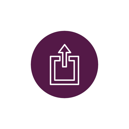The exit icon. Logout and output, outlet, out symbol. Vector logo