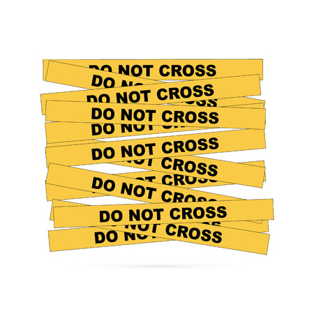 Barrier tape. Restrictive tape yellow and black colors. Standard-Bild - 122684162