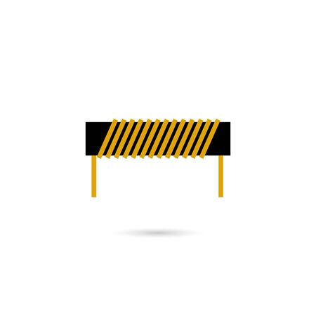 Induction coil icon. Simple illustration of induction coil vector icon for web design isolated on white background Vektorové ilustrace