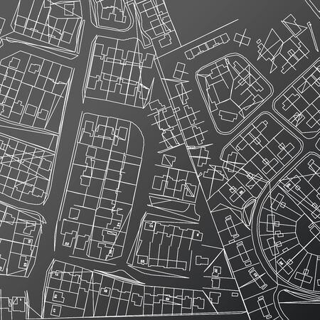 City Map in Retro Style. Vector Illustration. Outline Map.