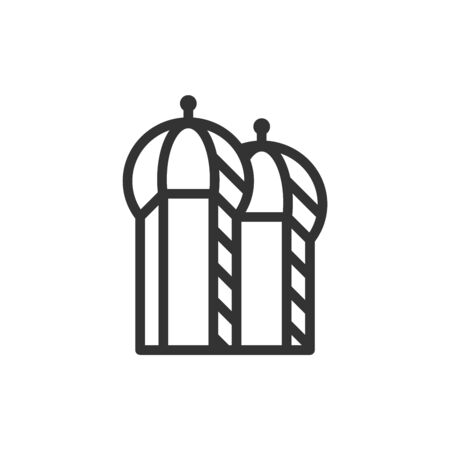Christian church icon monochromatic isolated vector illustration