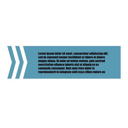 Modèle de devis vectoriel innovant entre guillemets sur fond bleu. Illustration de bannière de vecteur créatif avec une citation dans un cadre avec des citations.