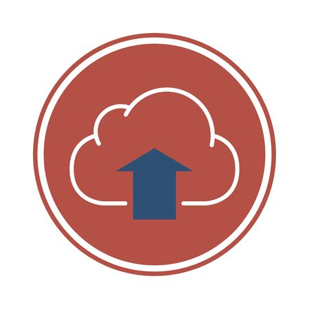 Cloud icon with arrow facing upwards, Upload to cloud server icon