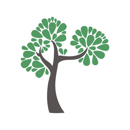 Tree icon. Forest symbol. Flat web sign on white background.