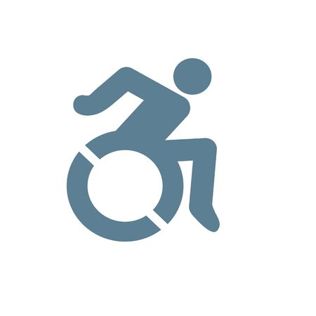 Handicap symbol illustration icon of wheelchair clipart Çizim