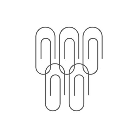 Vector paper clip isolated over white background 向量圖像