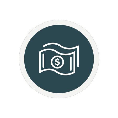 Simple Money icon. Universal cash icon. Vector Icon 일러스트