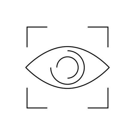 Eye close up visibility button icon vector. Trendy flat eye close up visibility button icon from user interface collection isolated on white background. Vector illustration can be used for web and Stock Vector - 134891409